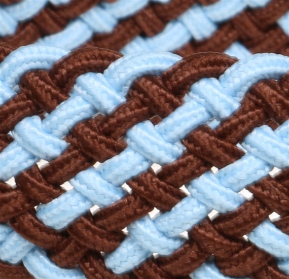 Boy's sky blue and brown elastic belt woven