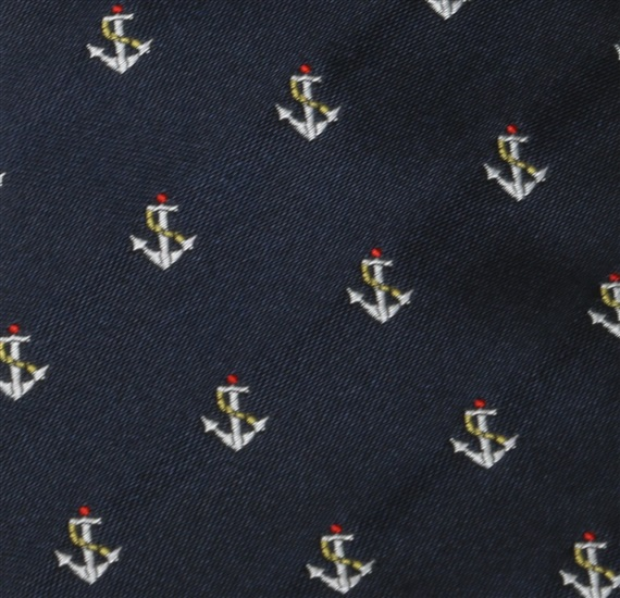 Blue Boy's tie with Anchors detail