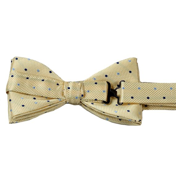 Yellow Bow Tie with Dots Reverse