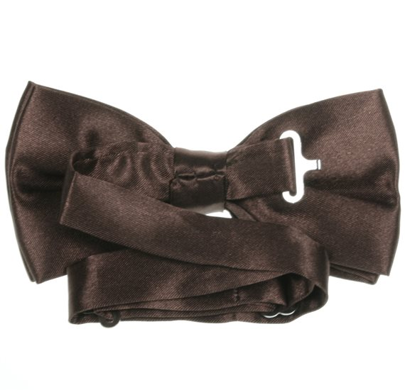 Dark Brown Bow Tie Reverse