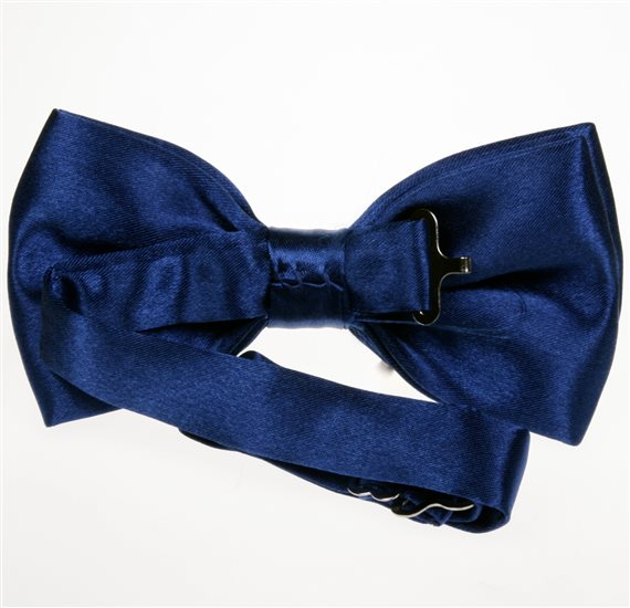 Royal Blue Bow Tie Reverse