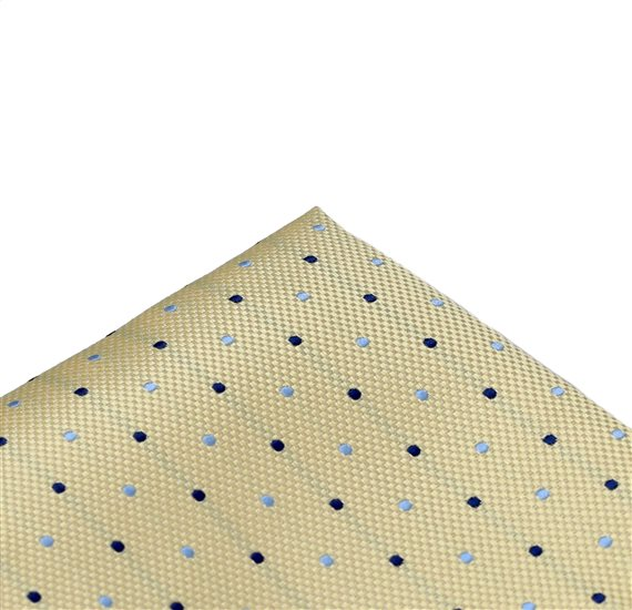 Yellow Pocket Square with Dots
