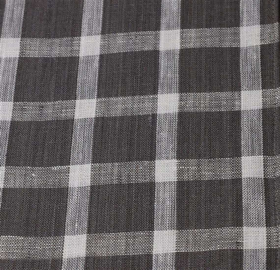 Grey and white checked pocket square