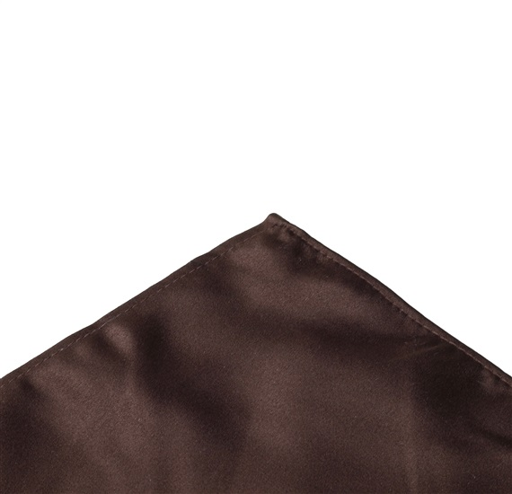 Brown satin pocket square