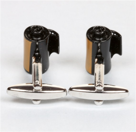Yellow Photo Reel Cufflinks reverse