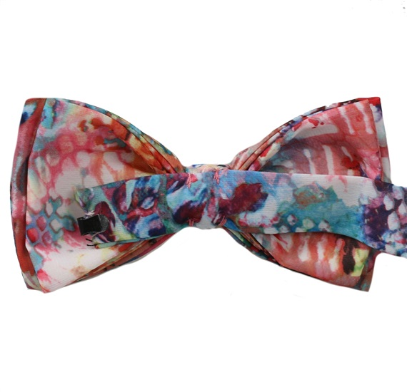 Reverse silk bow tie limited edition