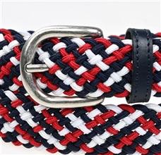 7b781e95c Cinturón Niño Trenzado Elástico Rojo Azul y Blanco - Comprar en ...