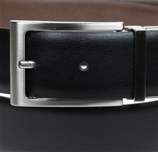 Two side brown and black reversible belt buckle