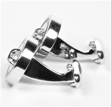 Button Metal Cufflinks Side