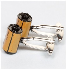 Side Yellow Photo Reel Cufflinks