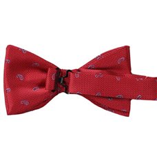 Red Bow Tie with Paisley Reverse
