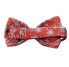 Dark Orange Bow Tie Paisley Reverse