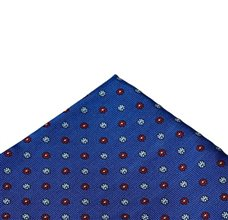 Royal blue pocket square with flowers