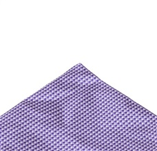 Purple pocket square with checks