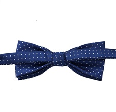 Reverse royal blue bow tie with dots