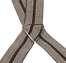 Brown Striped Elastic Braces - Pisa 77