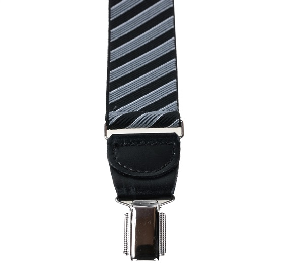 Navy Blue and Grey Stripes Elastic Braces