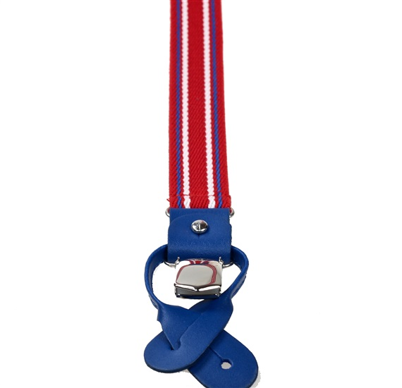 Red and Royal Blue Striped Elastic Braces