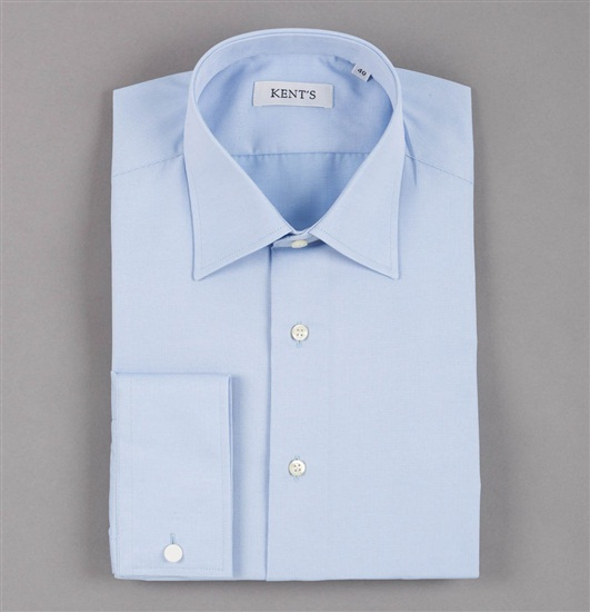 Special Size Sky Blue Dress Shirt