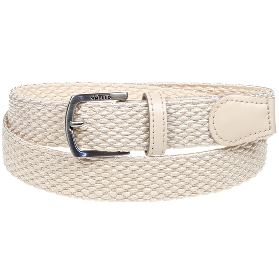 Cream Elastic Boy Belt