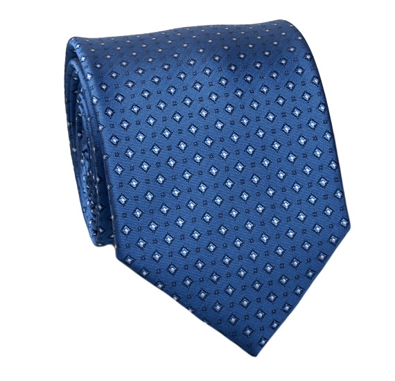France Blue and White Design Tie