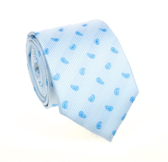 5da966ee Corbata Cachemir Azul Celeste de Seda Natural