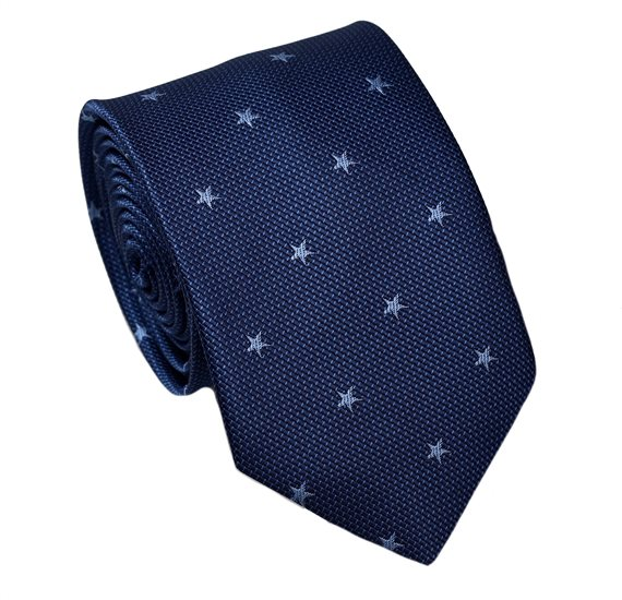 Blue Teenager's Tie with Stars