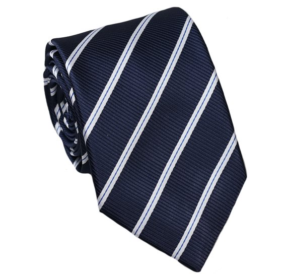 Dark Blue Teenager's Tie with Stripes
