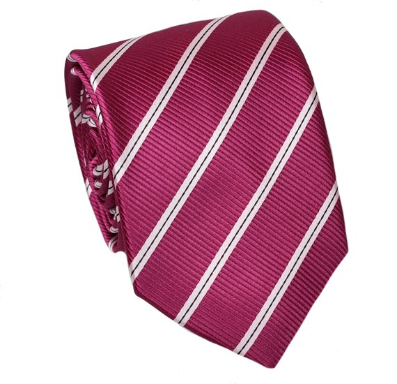 Magenta Teenager's Tie with Stripes