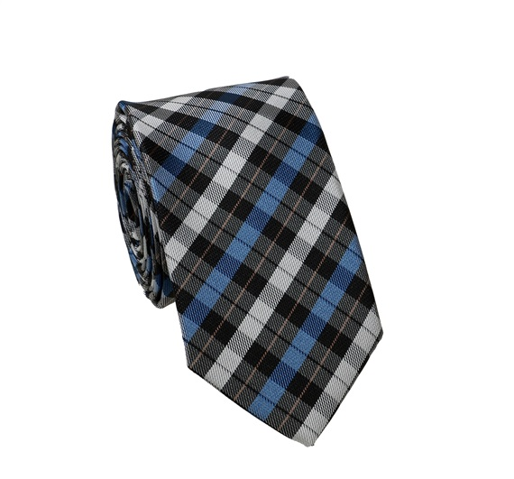 ec998432bda Gravata estreita xadrez azul e preto - Comprar na loja online de ...