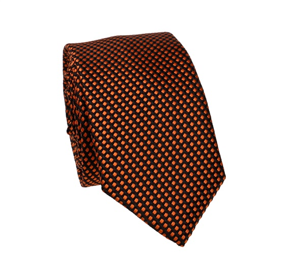 Terracotta Dots Slim Tie