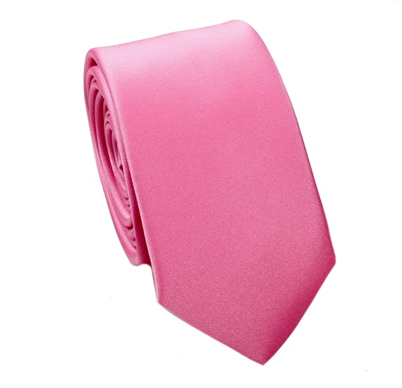Pink Slim Tie and Pocket Square