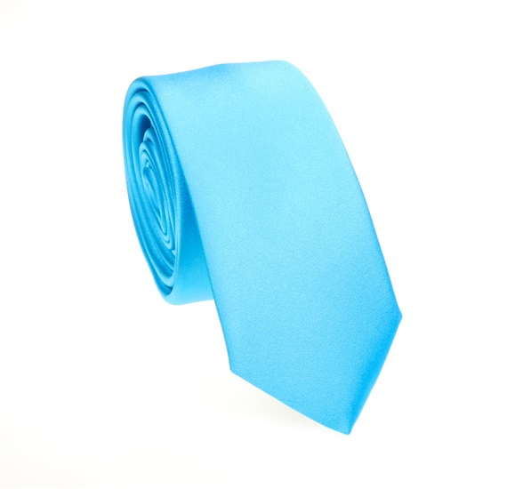 Turquoise Slim Tie and Pocket Square