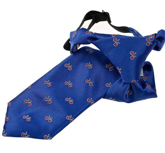 Royal Blue Boy's Tie with Red Bicycles