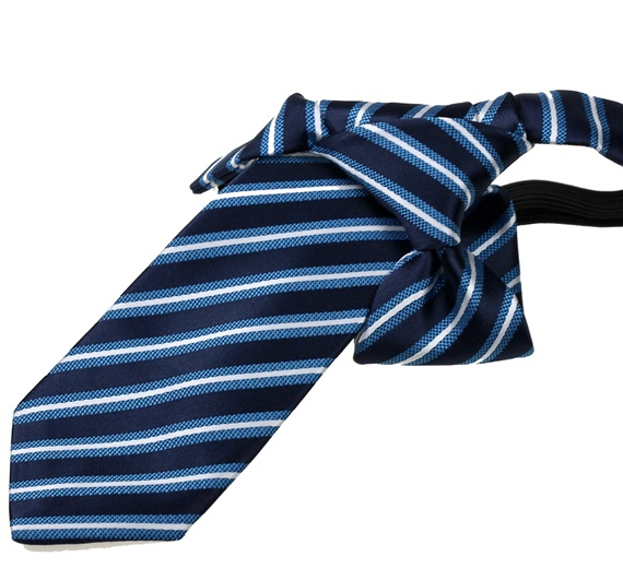 Dark Blue Stripes Boy's Tie