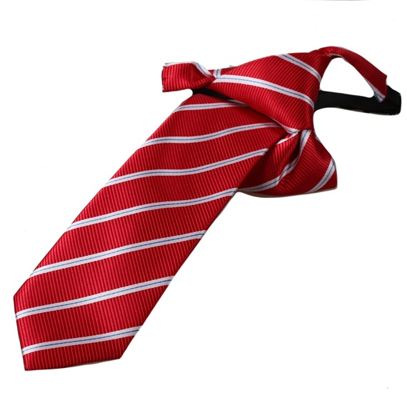 Red Stripes Boy's Tie
