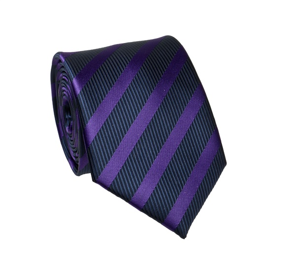 Purple and Blue Stripes Tie