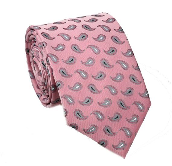 8c6b0ed4899f0 Corbata Rosa con Cachemir Gris - Comprar en tienda online de venta ...