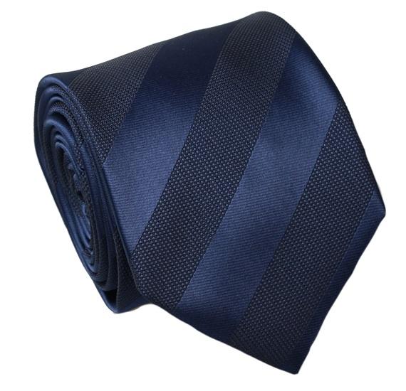 9bbb0cf5 Dark Blue Stripes Silk Tie