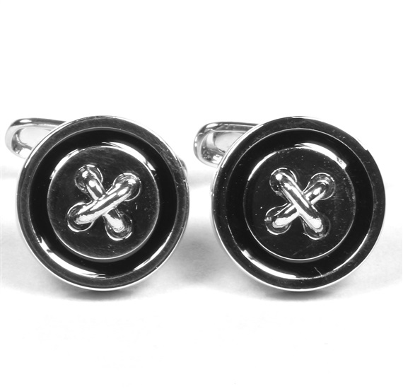 Button Metal Cufflinks