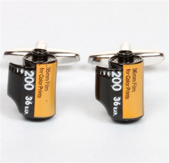 Yellow Photo Reel Cufflinks