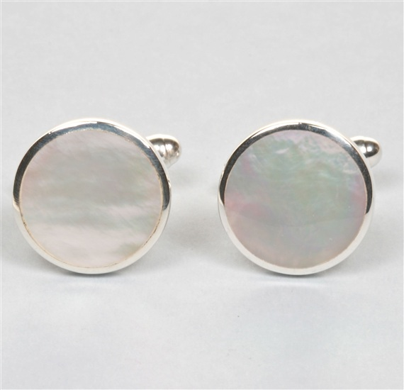 Nacre Cufflinks Silver 925 mm