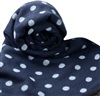 Blue Scarf with Sky Blue Dots