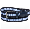 Boy's Dark Blue Elastic Belt with Sky Blue Stripe