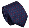 Dark Blue Tie with Red Paisley