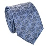Blue Paisley Natural Silk Tie
