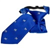 Royal Blue Boy's Tie with White Horses