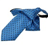 Royal Blue Boy's Tie with Orange Paisley
