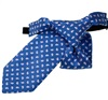 Royal Blue Boy's Tie with Pink Paisley