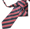 Grey and Red Stripes Boy's Tie